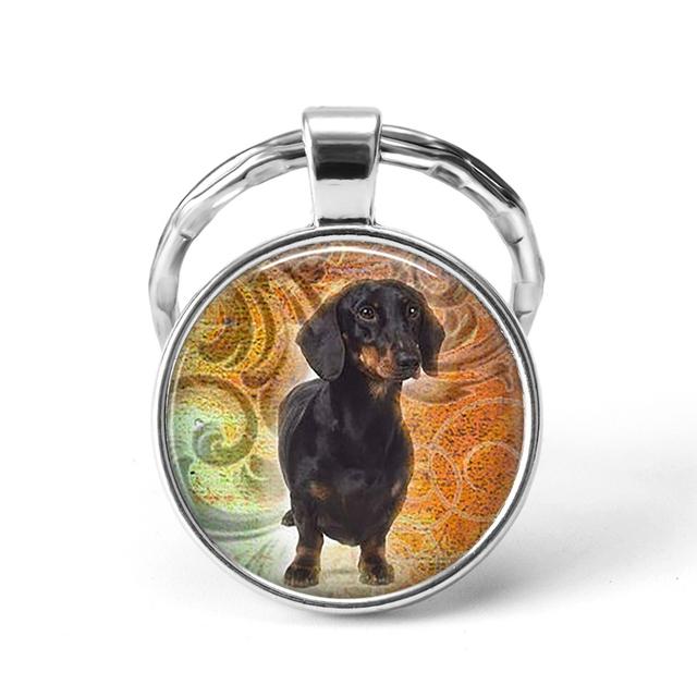 Round Dog Patterned Pendant