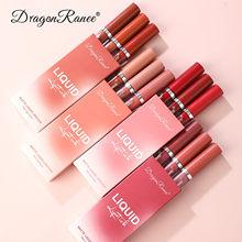 Rouge à lèvres mat pour femmes, résistant à l'eau, longue durée, liquide, brillant, velours, maquillage, cosmétiques, 3 pièces