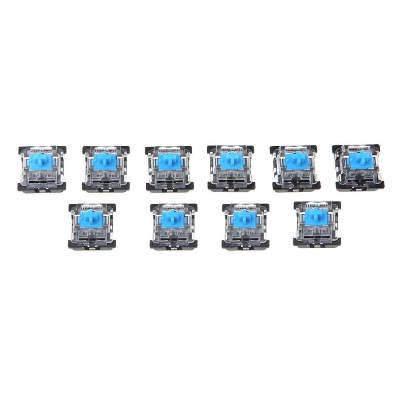 10 шт. 3-контактный механический переключатель клавиатуры синий для вишневого стандарта