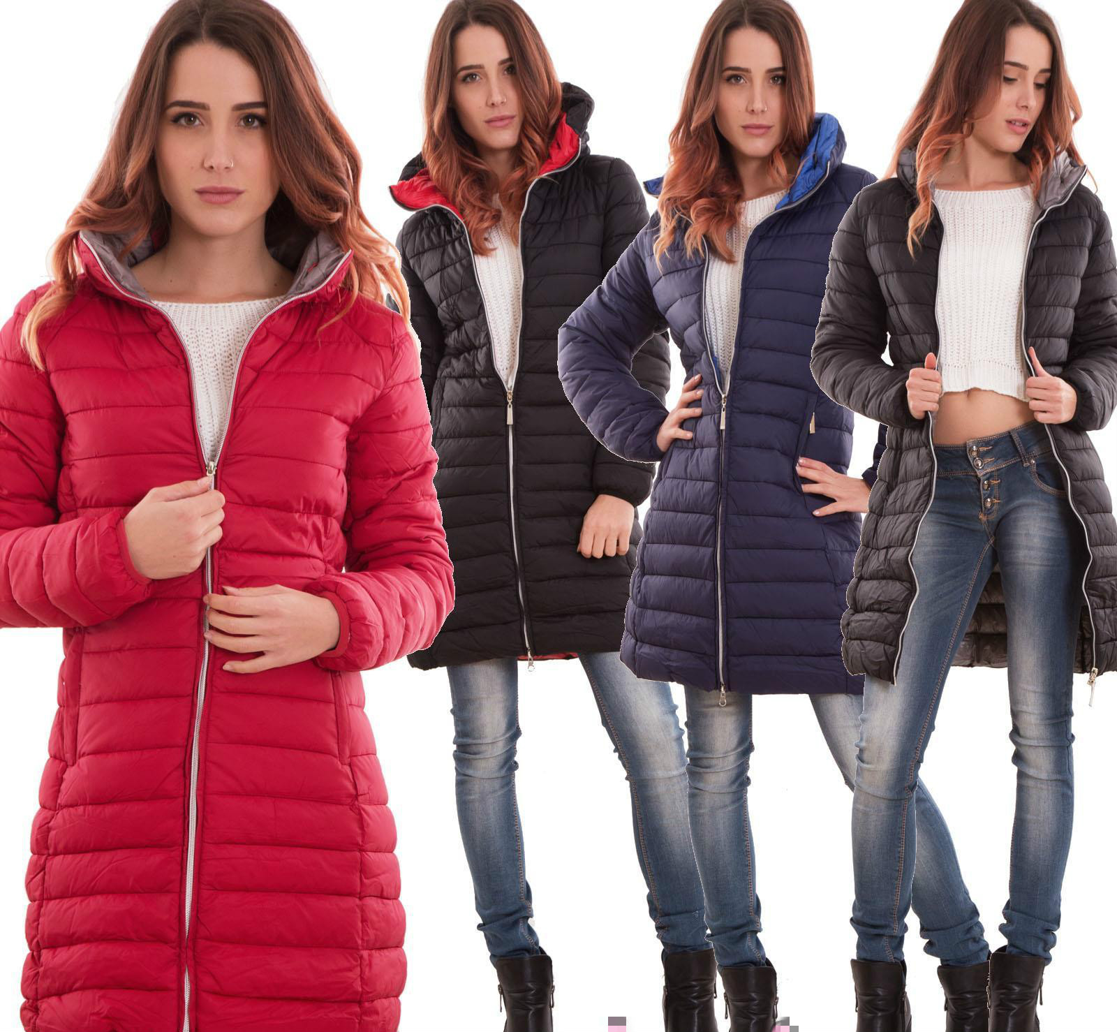 ZOGAA Long Section Winter Coat Casual Fashion Hooded Coat Women 2019 New  Women Winter Coat 4 Colors Puffer Jacket Warm Parkas