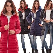 ZOGAA Long section winter coat Casual fashion Hooded coat women 2019 New women winter coat 4 colors