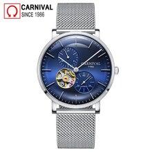 Carnival Automatic Mechanical Watch Men Full Steel Mesh Belt