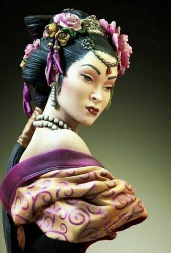 1/10 Ancient Chinese Lady Bust   Resin Figure Model Miniature Gk Unassembly Unpainted