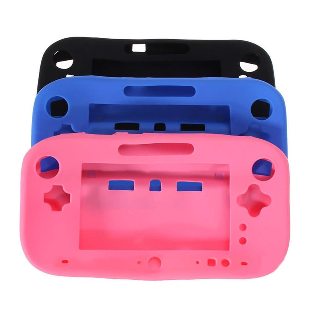 Soft Silicone Full Body Protector For Wii U Gel Case Cover Skin Shell For Nintend WiiU Gamepad Controller