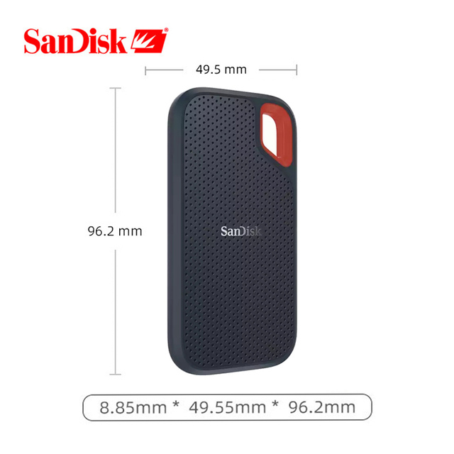 100%SanDisk Type-c Portable 1tb SSD 2tb 500GB 550M External Hard Drive USB 3.1 HD SSD Hard Drive Solid State Disk for Laptop 3