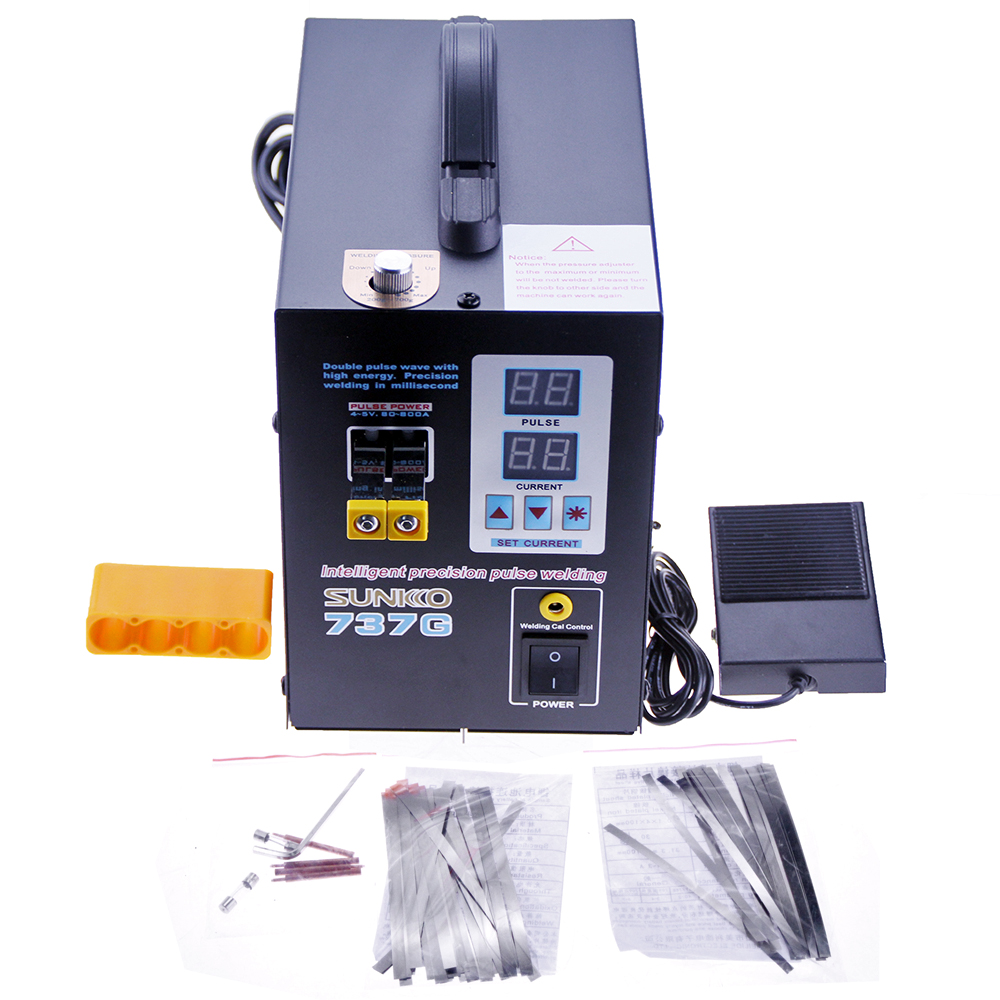 Welding For Dual Joint 18650 Push Welding Display LED 1 Spot Fixed Pulse Spot Digital 5kw SUNKKO Of Precision Welder 737G