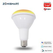 Zemismart Zigbee 3.0 Smart RGBCW LED Light Bulb BR30 Dimmable E27 Led Lamp Alexa Google Home Tuya Smartthings App 10W 850lm