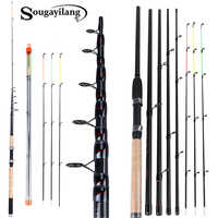Sougayilang 3.0M 3.3M 3.6M L M H alimentation canne à pêche filature avec accessoires gratuits canne de voyage