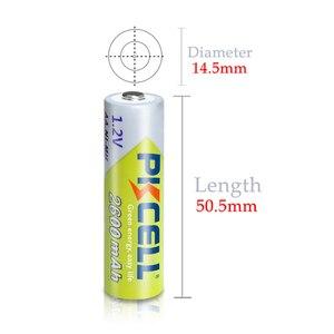 Image 5 - 12個pkcell aa充電式バッテリーニッケル水素1.2v 2600mah 1.2v 2A電池 + 3個のバッテリーボックスホルダーケース
