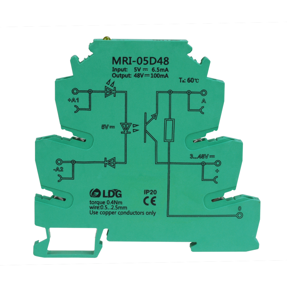 MRI-05D48 high low level trigger PLC optocoupler isolation control 5V optical ultra-thin electric coupling relay module