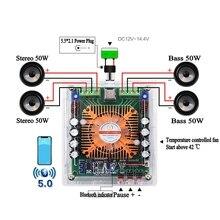 HIFI Bluetooth 5.0 TDA7850 4 Channel 50W * 4 รถสเตอริโอเสียงลำโพงซับวูฟเฟอร์ Bass AMP บ้านโรงละคร