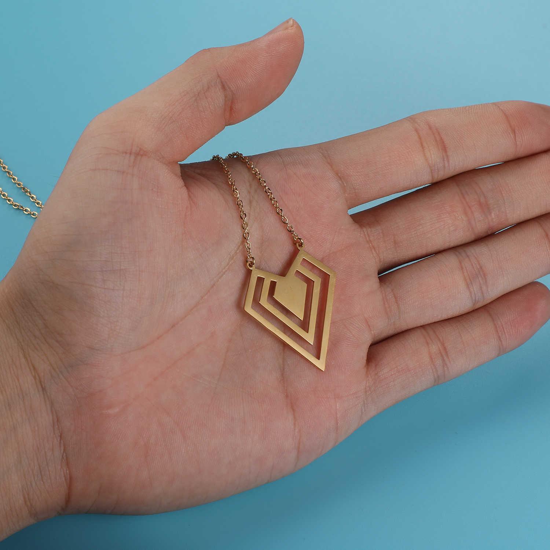 100% 本物のステンレス鋼中空径もん形ネックレスアメージングデザイン特別なギフトイタリアデザインパーソナリティの宝石