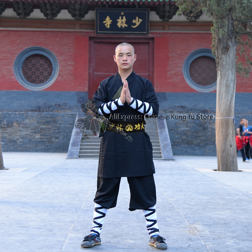 Униформа Shaolin Kung fu из черного хлопка, боевые искусства, стрела Тай Чи, для детей и взрослых| | | АлиЭкспресс