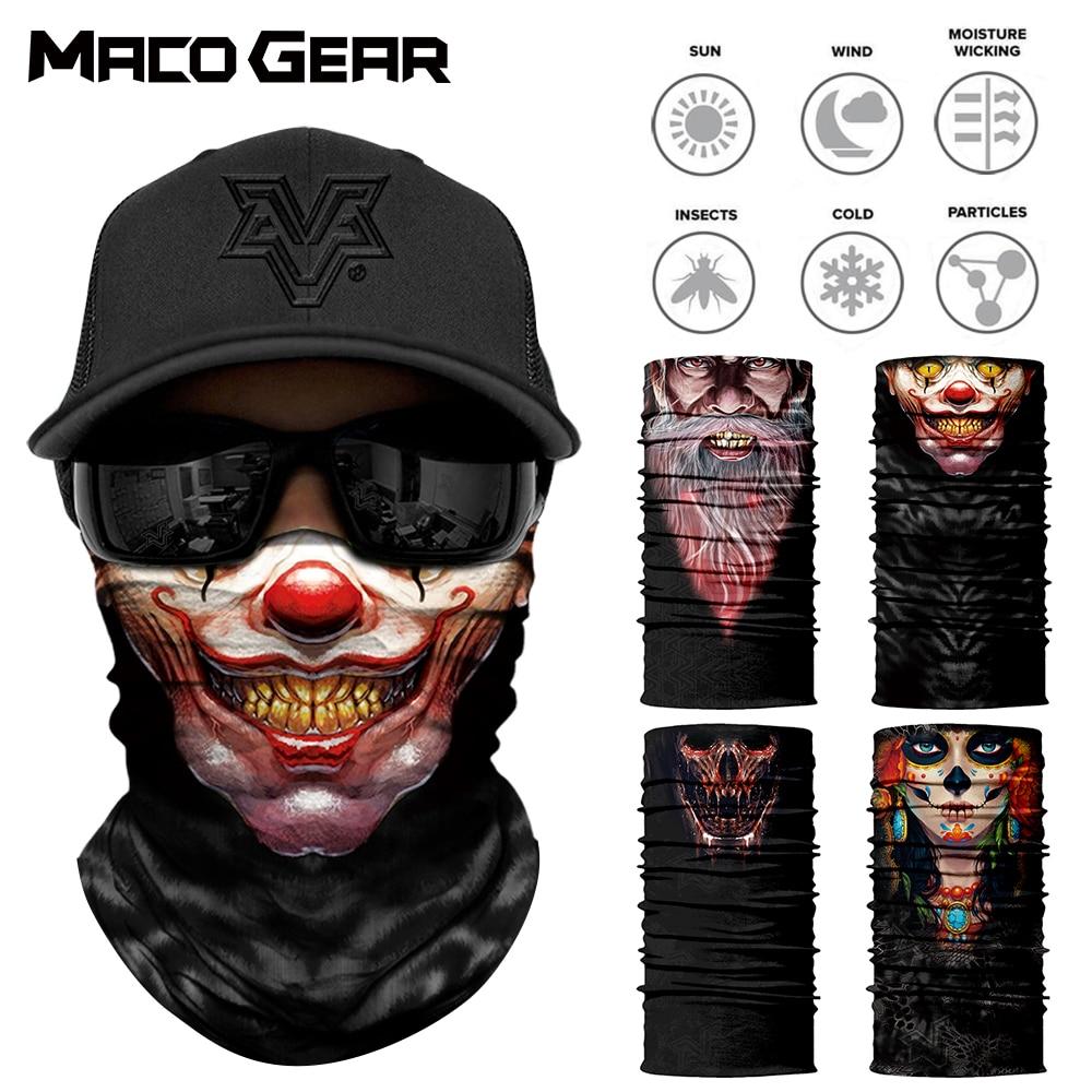 Balaclava Vampire Clown Joker Skull Neck Scarf Half Face Cover Headwear Bandana