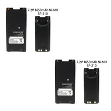 2x Pack for Icom BP-210 Two-Way Radio Battery with Clip (1650mAh 7.2V NI-MH) - for IC-F11 IC-F21 IC-V8 IC-F3GT IC-F40GT(China)