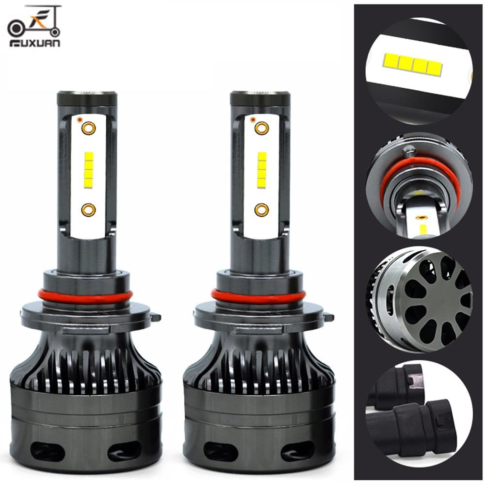FUXUAN 2PCS H7 H4 H11 LED H13 9005/HB3 9006/HB4 H1 Car Headlight Kit 6000K Bulbs CSP Auto Front H3 880/881 H8 Fog Lamps