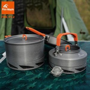 Image 4 - Fire Maple Camping Gebruiksvoorwerpen Gerechten Cookware Set Picknick Wandelen Warmtewisselaar Pot Ketel FMC FC2 Outdoor Toerisme Servies