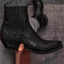 Luva pontiaguda locomotiva martin botas western cowboy cavaleiro botas masculinos retro joelho botas curtas sapatos elegantes zq0256