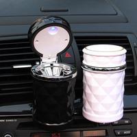 Portátil led luz cinzeiro de carro universal titular do cilindro de cigarro acessórios do carro|Cinzeiro de carro| |  -