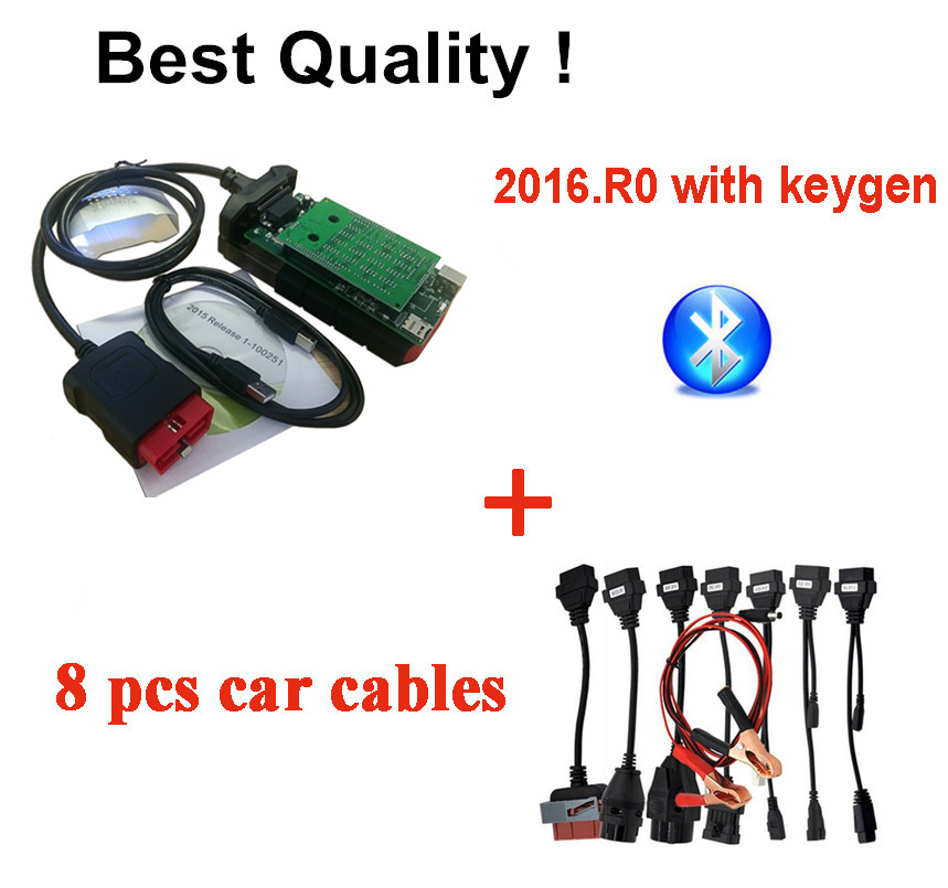 New vci with Bluetooth For VD DS150E CDP vd tcs cdp pro 2015.R3 for car truck obd2 scanner diagnostic +8 pcs car cable DHL-in Car Diagnostic Cables & Connectors from Automobiles & Motorcycles on AliExpress - 11.11_Double 11_Singles' Day 1