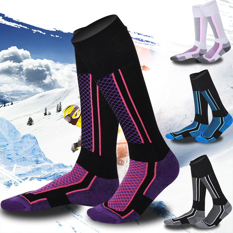 Women/Man Winter Long Thermal Ski Snowboard Socks Breathable Warm Outdoor Sport Socks Athlete Accessories