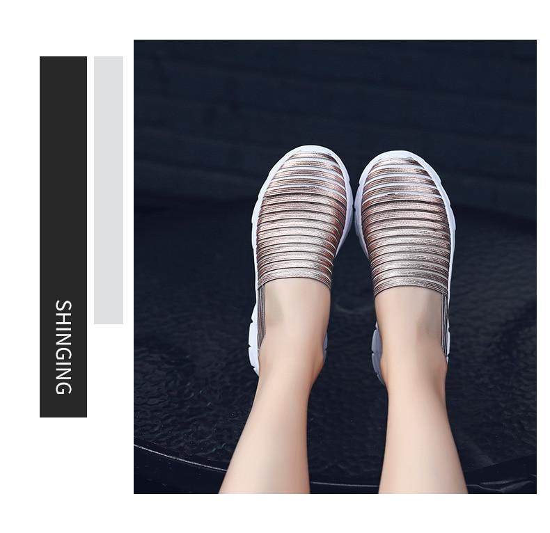 Women Flats Shoes Woman Loafers Slip-ons Platform Ballet Sneakers (8)