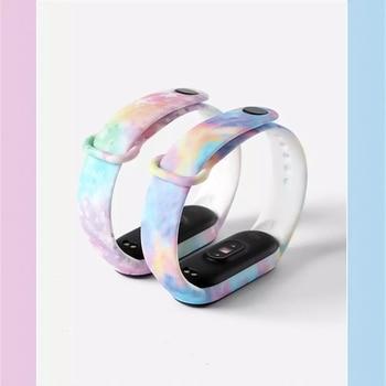 Bracelet For Xiaomi Mi Band 5 6 Band 4/3 Strap Silicone Wristband TPU strap For xiaomi Mi band5 mi band4 bracelet Miband 5 Strap 2