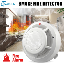 Bayroon Smoke Detector Independent Fire Alarm with Battery Sensitive Home Security Wireless Alarm Smoke Sensor Fire Detector