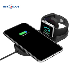 BSYDZKJGS 10W 2in1 bezprzewodowa ładowarka qi dla iphone xs max XR 8 Samsung S8 S9 Plus uwaga 9 8 szybkie bezprzewodowe ładowanie Pad dla iWatch