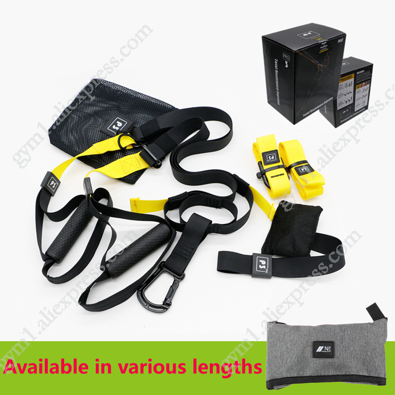 130-210cm Suspension Trainer Training Straps Fitness Hanging Strap Belt  For Exercise Resistance Bands Gym Workout Pull Rope
