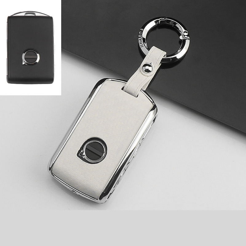 Zinc Alloy Car Key Cover Case For Volvo XC40 XC60 S90 XC90 V90 2017 2018 T5 T6 2015 2016 T8 Keychain Alarm Car Remote Control