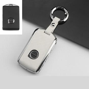 Zinc alloy Car Key Cover Case For Volvo XC40 XC60 S90 XC90 V90 2017 2018 T5 T6 2015 2016 T8 Keychain Alarm Car Remote Control