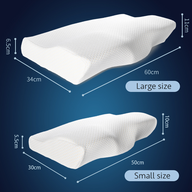 Orthopedic Concave Shape Memory Foam Pillow 4