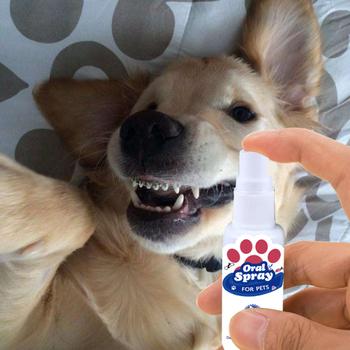 30ml odświeżacz do ust dla zwierząt antybakteryjny Spray do ust świeży oddech pies i kot zdrowa opieka stomatologiczna świeży oddech Spray tanie i dobre opinie KK219NAH Dropshipping