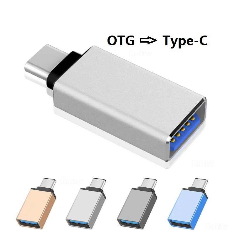 OTG Type-C USB C ADAPTER Micro Type C USB-C 3.1 USB 2.0 แปลงข้อมูลสำหรับ samsung S8 S9 Note 8 Huawei SONY ONE PLUS usbc