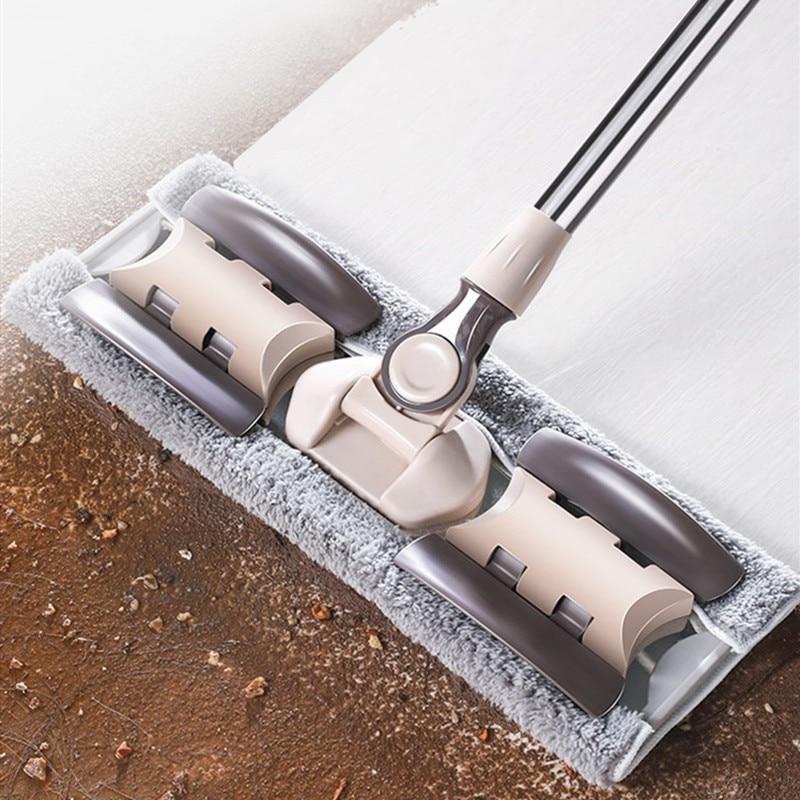 BWOHOPS Flat Mop Floor Cleaning Mop For Bucket Dust Swob Magic & Easy & Microfiber Broom Rotating Superfine Fiber Swabs