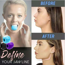 1/2pcs JawLine Exerciser Ball Facial Jaw Muscle Toner Trainin Fitness Anti-aging Food-grade Silica Face Chin Lifting Slimming