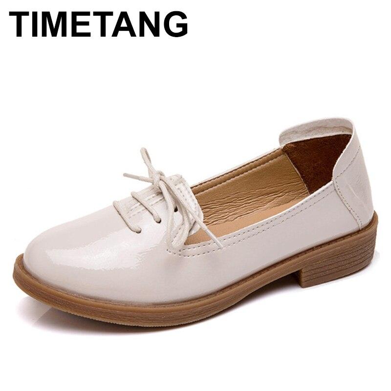 TIMETANG oxfords women flat shoes