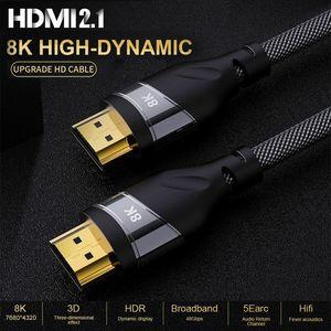 Image 1 - HDMI 2.1 4K 120HZ hdmi عالية السرعة 8K 60 HZ UHD HDR 48Gbps كابل HDMI Ycbcr4: 4: 4 النحاس 30AWG محول لأجهزة العرض PS4 HDTVs