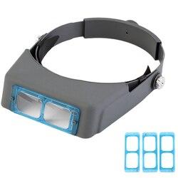Głowa nosząca lupa do okularów do okularów Low Vision z pałąkiem na głowę lupa naprawa trzeciej ręki kask lupy okulary w Lupy od Narzędzia na