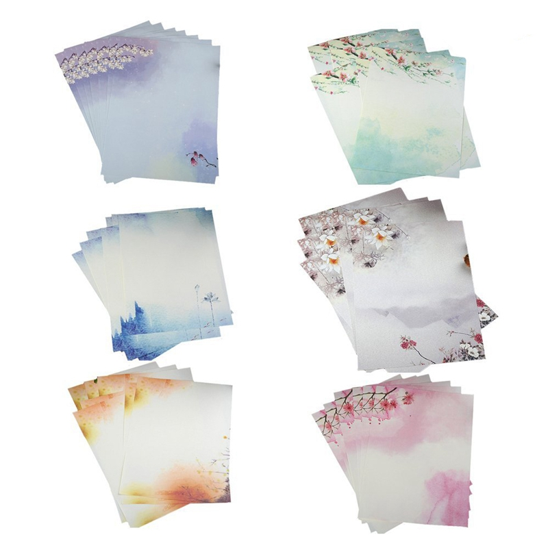 48PCS Writing Stationery Paper , Letter Writing Paper Letter Sets