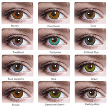 2pcs pair Colored Contact Lenses Eye Vika tricolor Series Contact Lenses Color Cosmetic Contact Lens for Eyes lentes de contacto cheap Chosenior CN(Origin) 14 00-14 50 Two Pieces 0 04-0 06 mm HEMA Beautiful Pupil helps change the color of pupils for Party fashion show