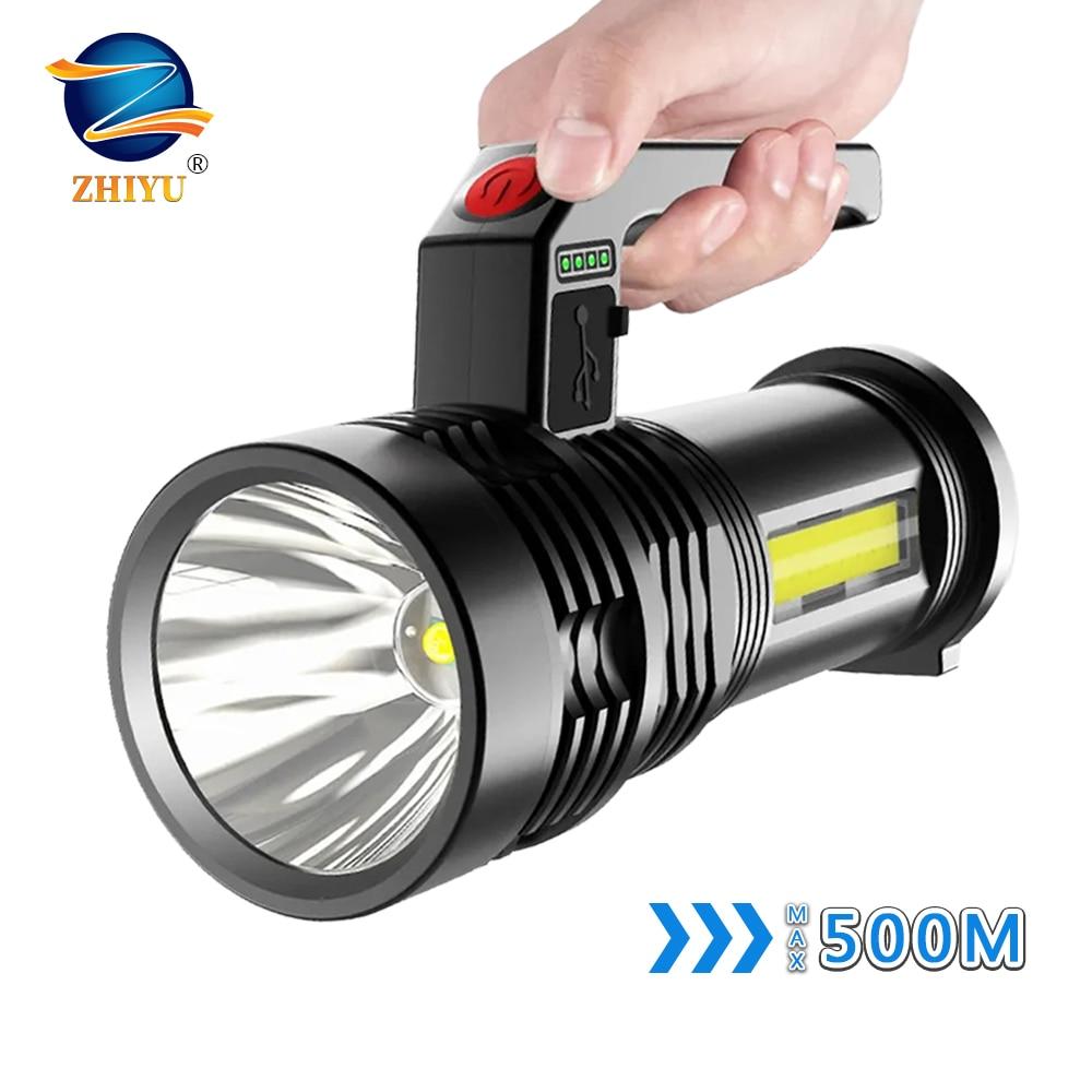 6000LM светодиодный фонарик ДАЛЬНОБОЙНЫЙ Применение USB Перезаряжаемые Открытый Кемпинг Фонари P500 Водонепроницаемый прожектор, светодиодный ...