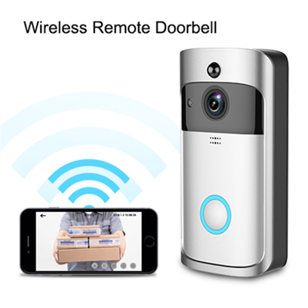 V5 Smart WiFi Video Doorbell Camera Visual Intercom With Chime Night Vision IP Door Bell Wireless Home Security Camera