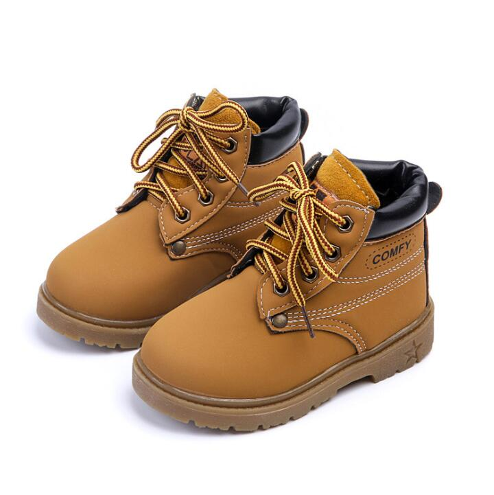 2019 Autumn Winter Hot Sale Child Casual Cotton Boots Kids Non-slip Keep Warm Martin Snow Boots Boys Girls Sneakers Baby Shoes