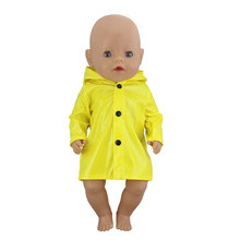 Lovely Raincoat Suit For 17 Inch Baby Reborn Doll 43cm Clothes