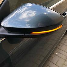 Динамический светодиодный поворотник для Skoda Octavia Mk3 A7 5E, боковой зеркальный свет для VW T-roc Troc 2014 2015 2017 2018 2019 T-cross