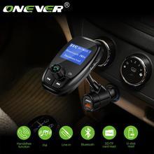 Onever Bluetooth fm-передатчик MP3-плеер модулятор 3,5 мм Aux воспроизведение музыки макс 32 Гб с QC3.0 автомобильное зарядное устройство Быстрая зарядка Hands-Free