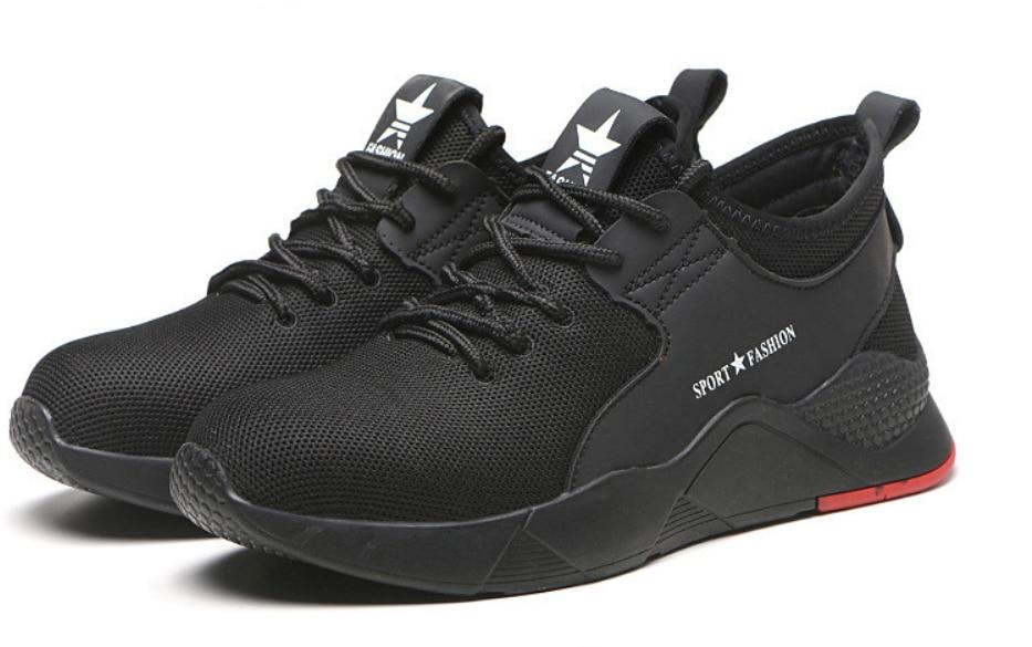 Легкая дышащая мужская защитная обувь со стальным носком Рабочая обувь для мужчин анти-разбивая конструкция кроссовки - Цвет: pic color shoes 1