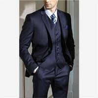 Custom Made Burgundy Casual Men Suit Slim Fit Groom Groomsman Blazer Tuxedos Best Man Dress Men's Suits (Jacket+Pants+Vest)